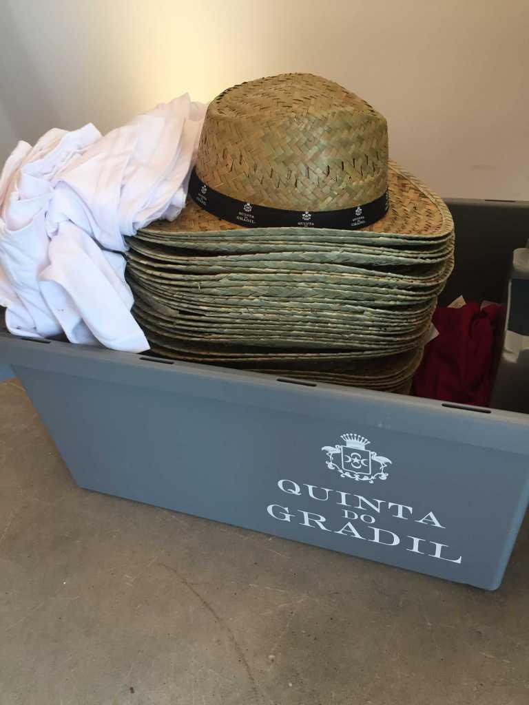 Quinta do Gradil Vindima kit: straw hat and t-shirts